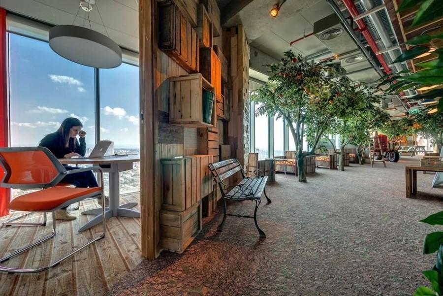 13. Самым передовым офисом в мире можно назвать офис компании Google, расположенный в Тель-Авиве, в