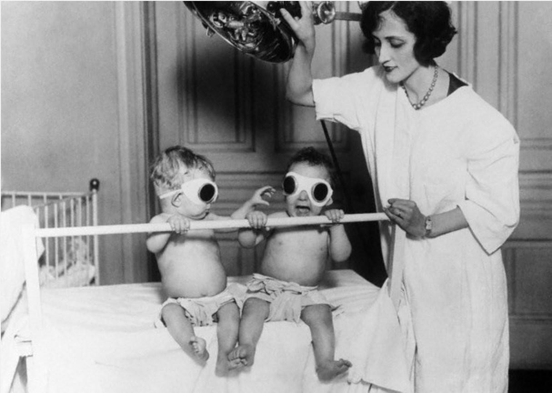 3. Во избежание развития рахита детей зимой облучали ультрафиолетом, 1925 год.