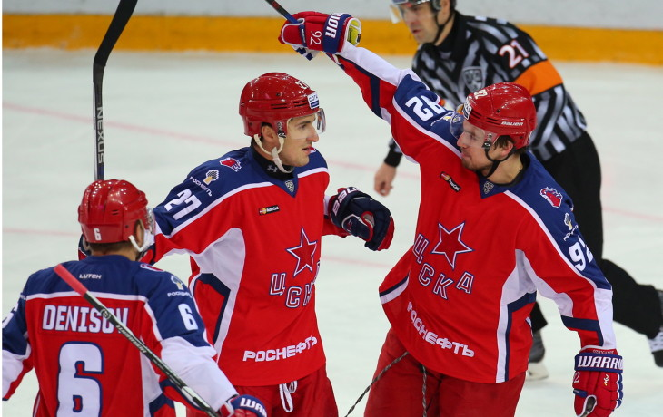 «ЦСКА» одержал волевую победу над «Амуром» вматче КХЛ