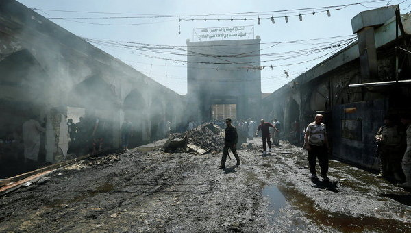 Теракт вБагдаде с35 жертвами попал навидео