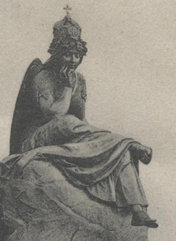 Bismarckbrunnen Flensburg - 1906 - Germania in groß