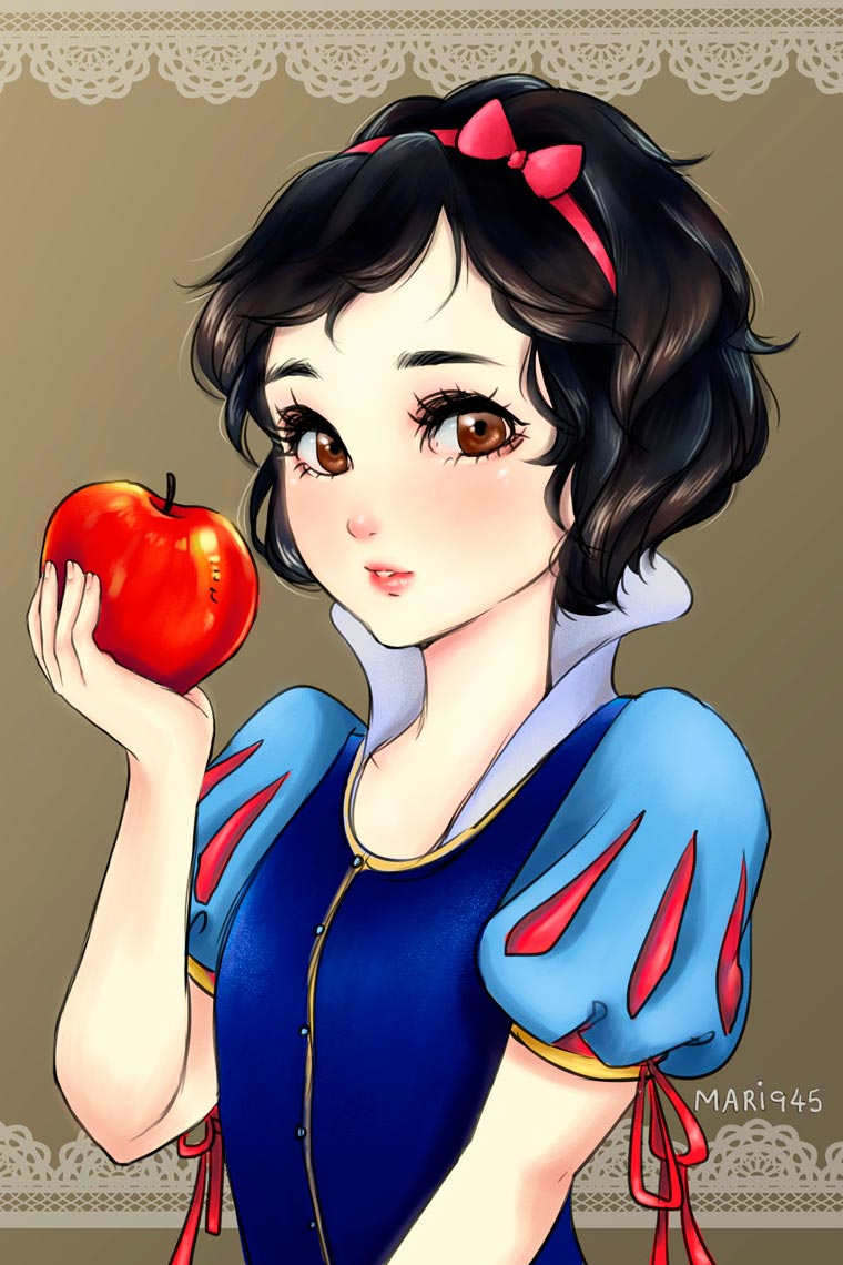 If the Disney Princesses were manga characters