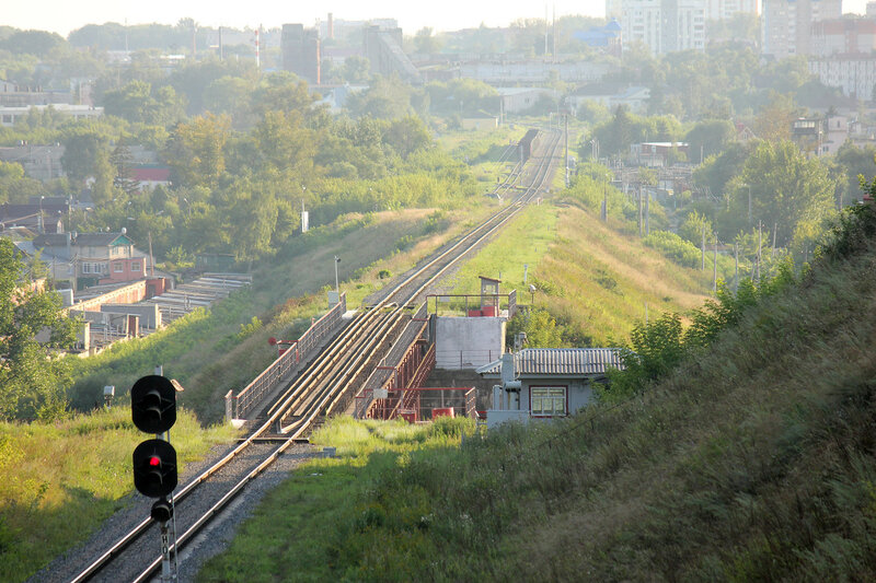 Станция Кромская и мост через Оку.