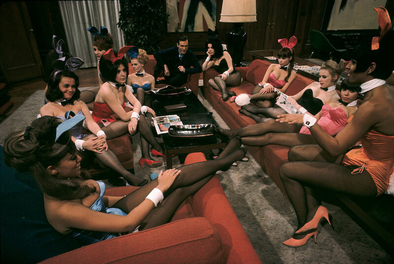 Hugh Hefner, Playboy founder, at his mansion, Chicago, 1966. by Burt Glinn.jpg