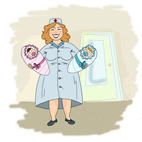 5 мая-день акушерки. Родилась двойня. вынесли детей