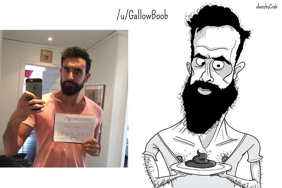 Художник-карикатурист нарисовал пользователей Reddit, подчеркнув все самое худшее