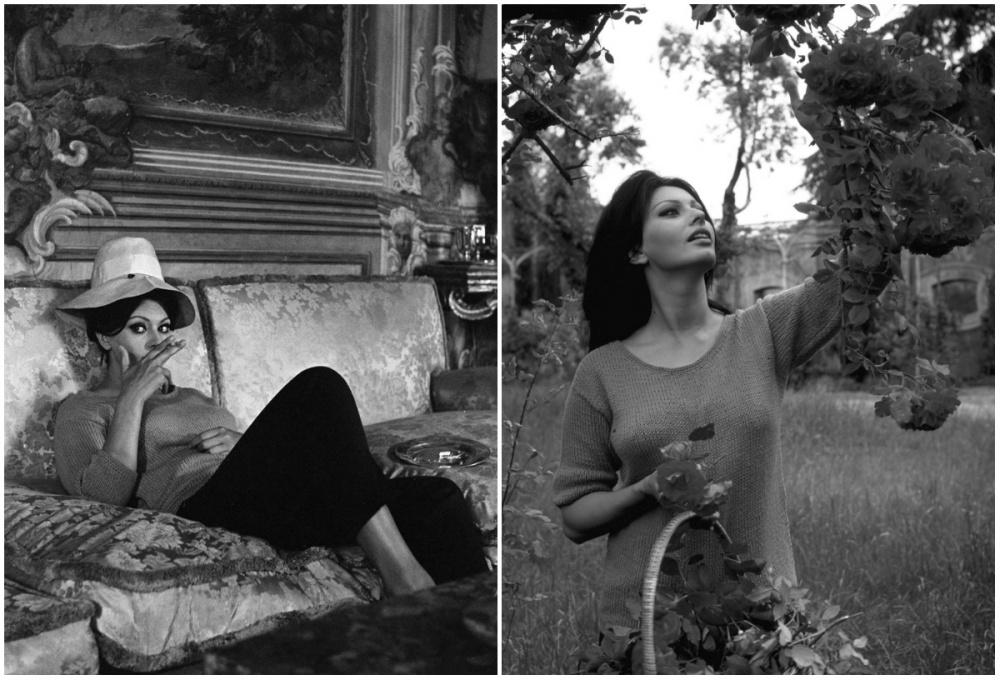 5. Софи Лорен на своей вилле в Италии, 1964 г.