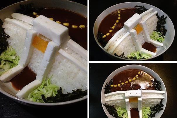 Рисовая плотина – новинка японской кухни (10 фото)
