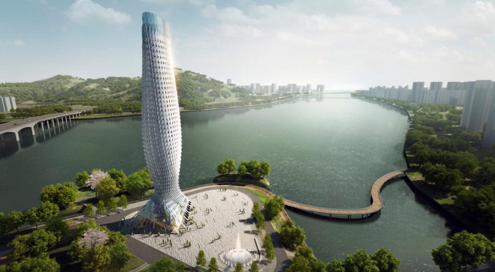 Напересечении двух рек вкитайском городе Чжухай будет построена 100-метровая обзорная площадка. Сл