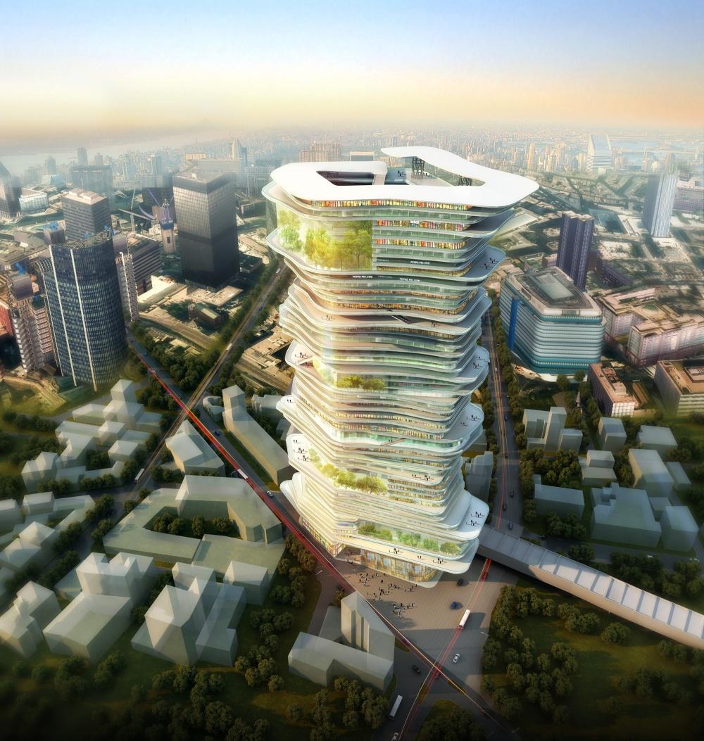 Один изсамых необычных и«природных» небоскребов планируется возвести вЛондоне. Уровни небоскреба
