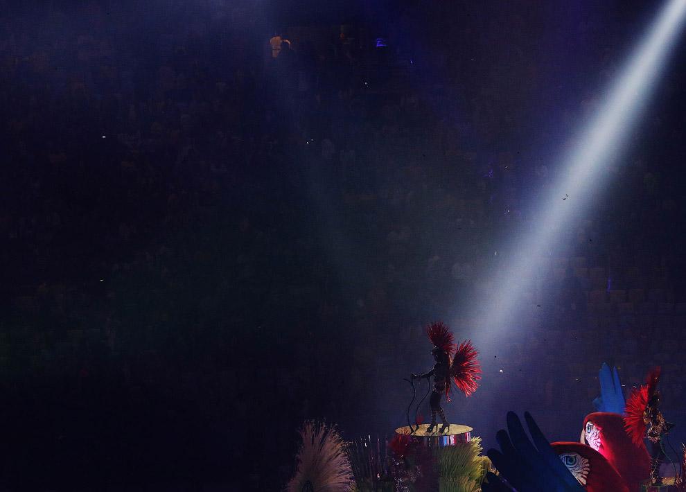 13. Огромные попугаи, которые служили платформой для танцовщиц самбы, поражали до глубины души.