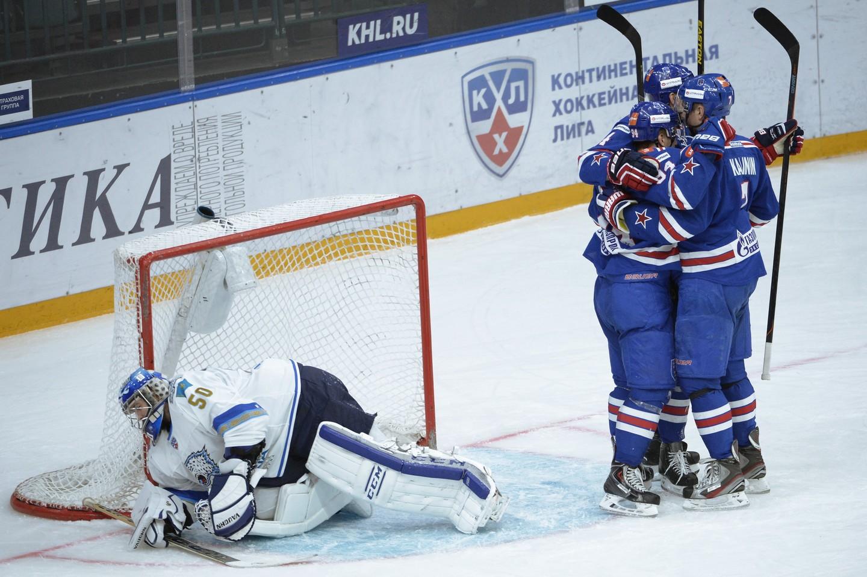 КХЛ. СКА одержал первую гостевую победу всезоне, переиграв «Барыс»