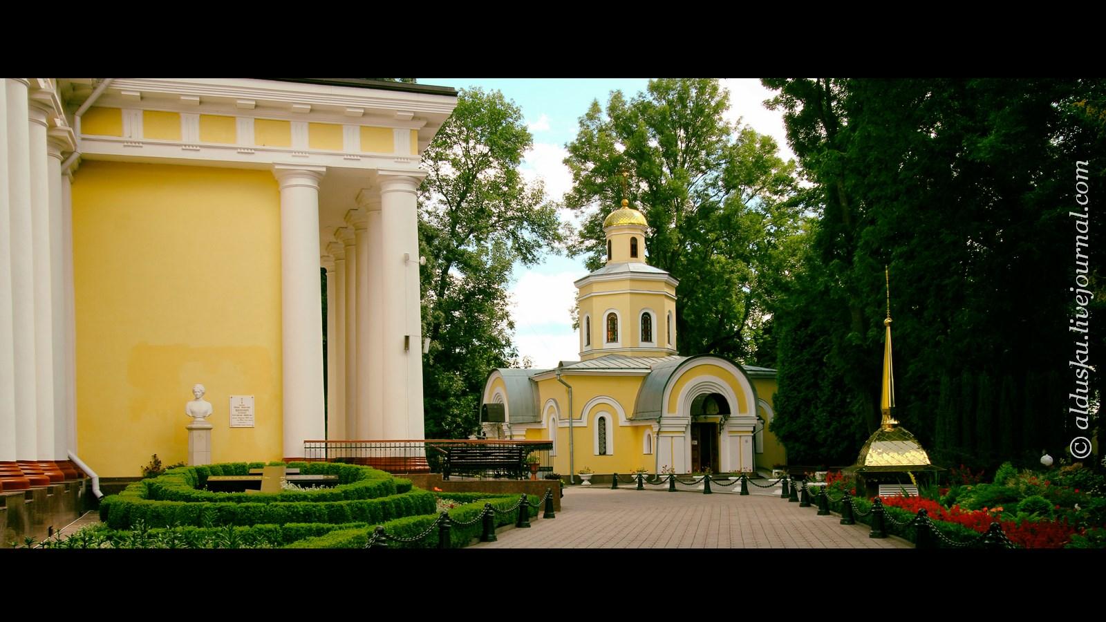 Вдали крестильный храм
