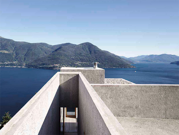 House in Brissago  by Wespi de Meuron Romeo Architects  is located on a Swiss hillside. This concret