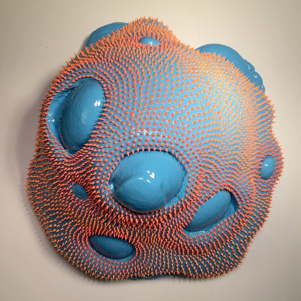 Amorphous Technicolor Blobs That Appear to Ooze From Gallery Shelves by Dan Lam