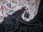 Ткань: Шифон. Натуральный шёлк. Ширина 140. Цена: 3200