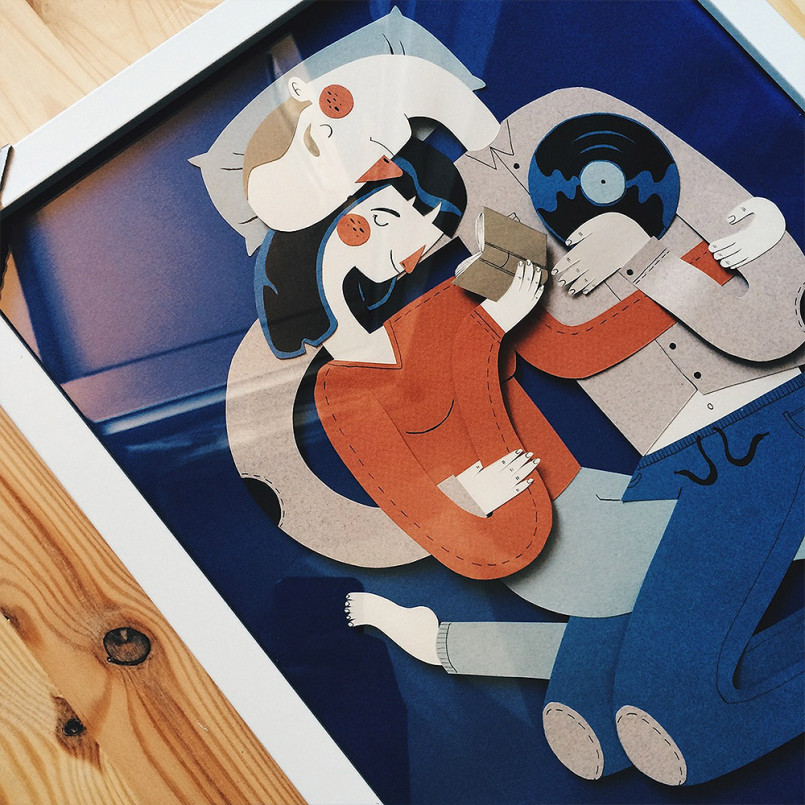 Family Portraits: Paper Illustrations by Jotaka