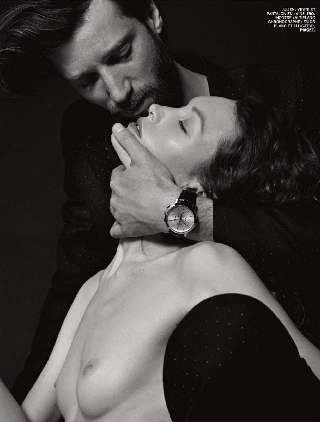 Julien Remond & Fanny Fournier by Serge Paulet - Lui Magazine may 2016