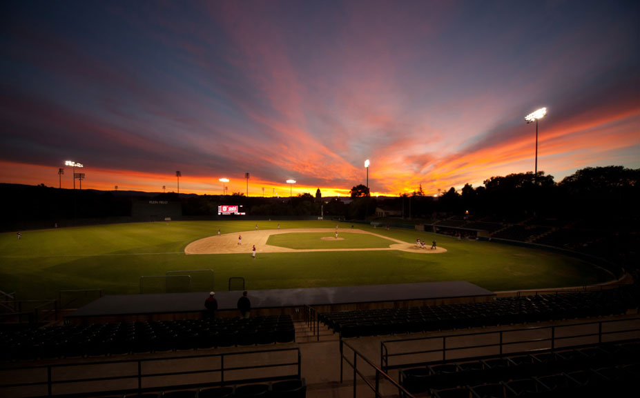 красивые закаты на бейсбольных стадионах / baseball park sunset