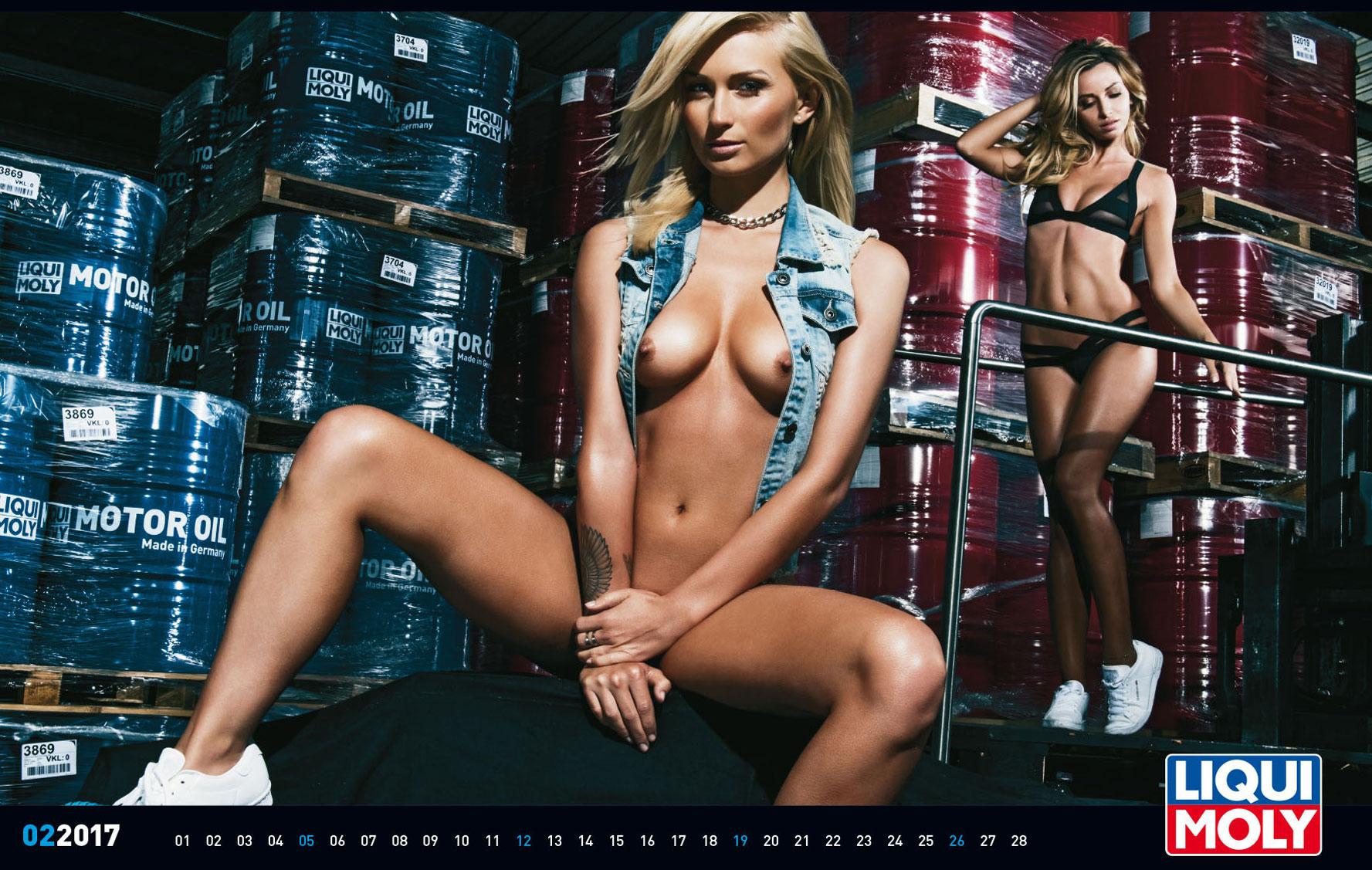 Liqui Moly 2017 calendar nude version.