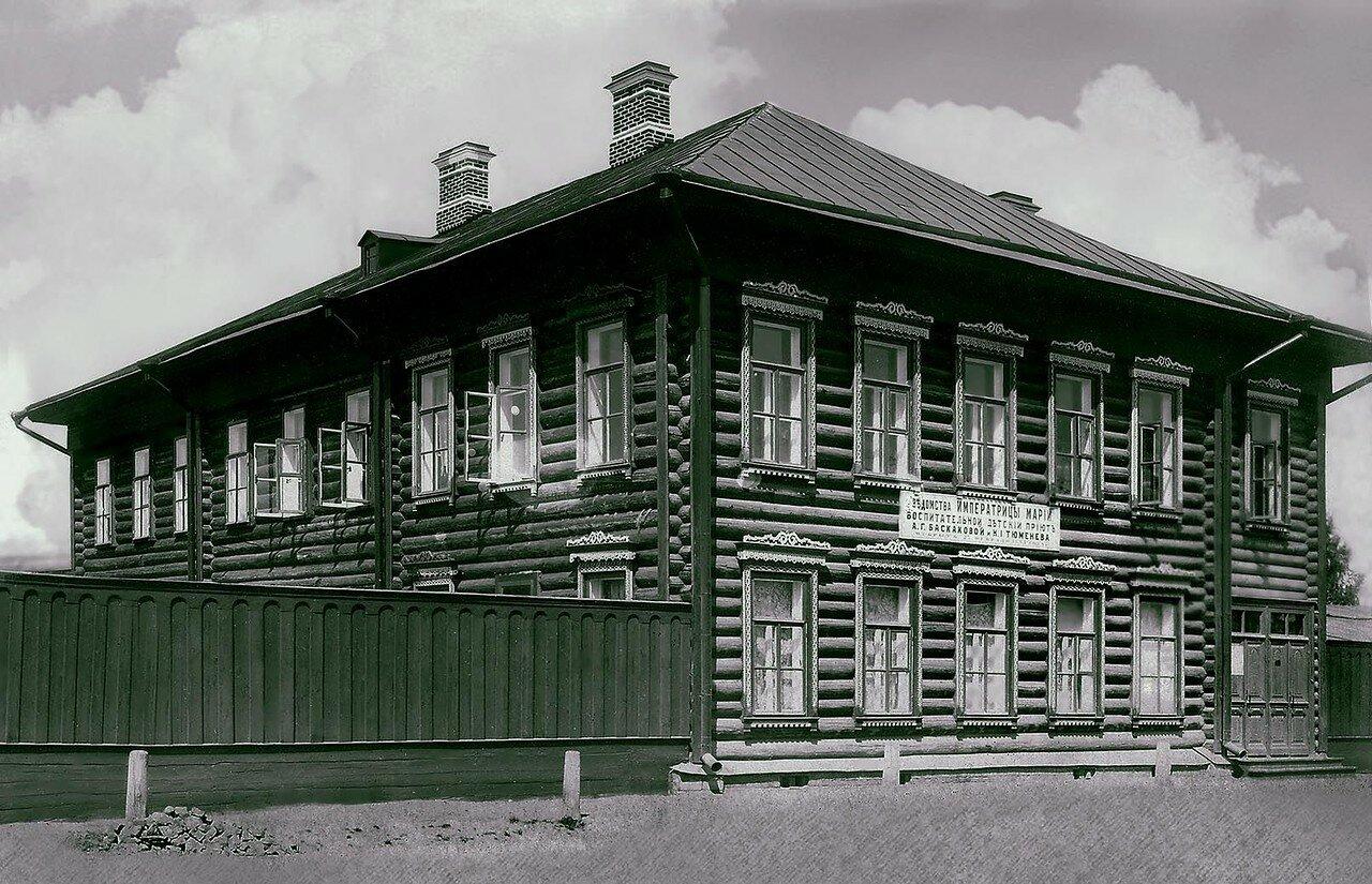 Здание воспитательного детского приюта имени Баскаковой и Тюменева на Пушкинской улице