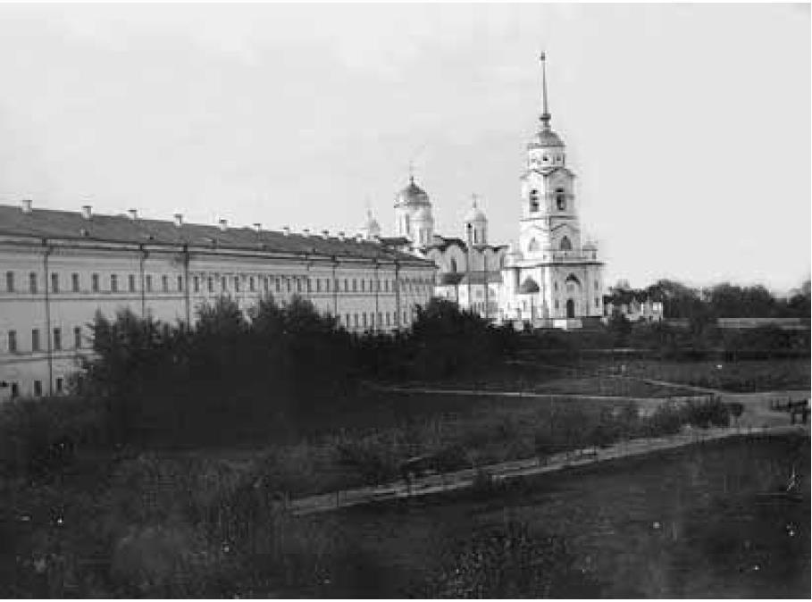 Липки. Запечатлен период разбивки сквера Липки в 1901-1905