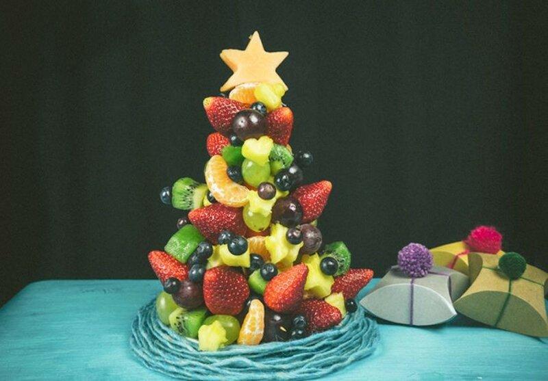 Фруктовая елка на Новый год   идеи праздничных десертов