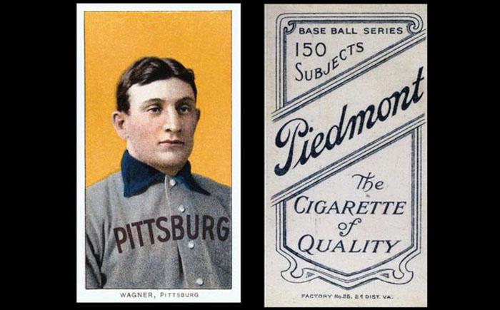 4. Бейсбольная карточка с Хонусом Вагнером Эта бейсбольная карточка была выпущена табачной компанией