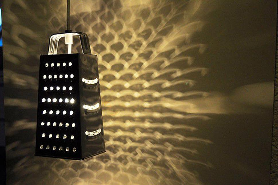 Стильный светильник из терки. Хендмейд в деле.