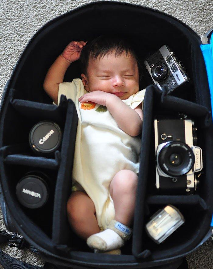 Когда папа фотограф