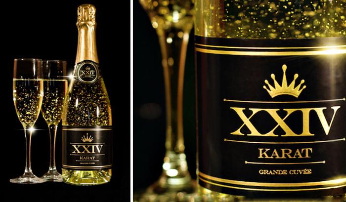 3. Искристое шампанское Шампанское 24-Karat Grande Cuvee производится в Калифорнии и считается одним