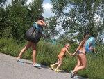 2016 С Таней и  Андреем на  пруду в жару 2016