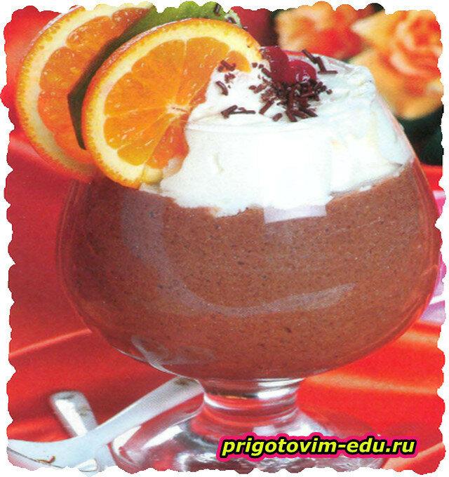 Шоколадный коктейль с апельсиновым сиропом