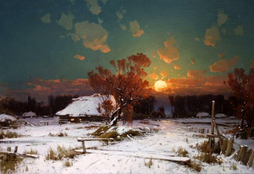 Прядко Юрий Юрьевич . Морозный вечер в декабре.jpg