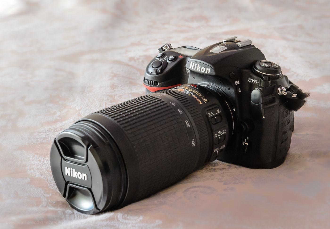 Внешний вид камеры Nikon D300s с объективом Nikon 70-300mm f/4.5-5.6G. Обзор с примерами фотографий.