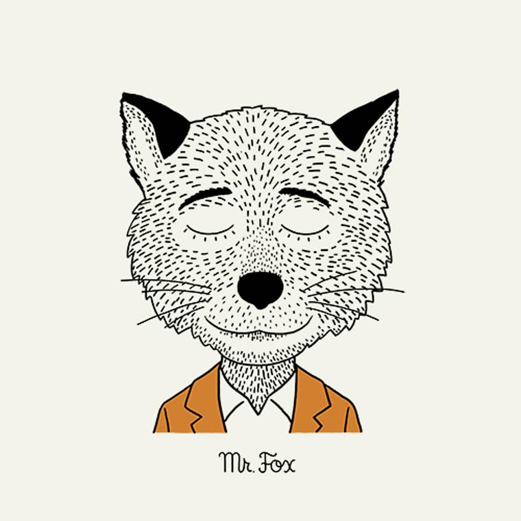 All the characters of Wes Anderson in a beautiful series of illustrations