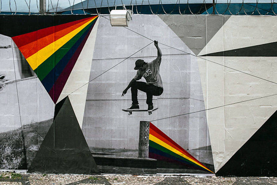 Striking Skateboarding Street Art Murals in Sao Paulo
