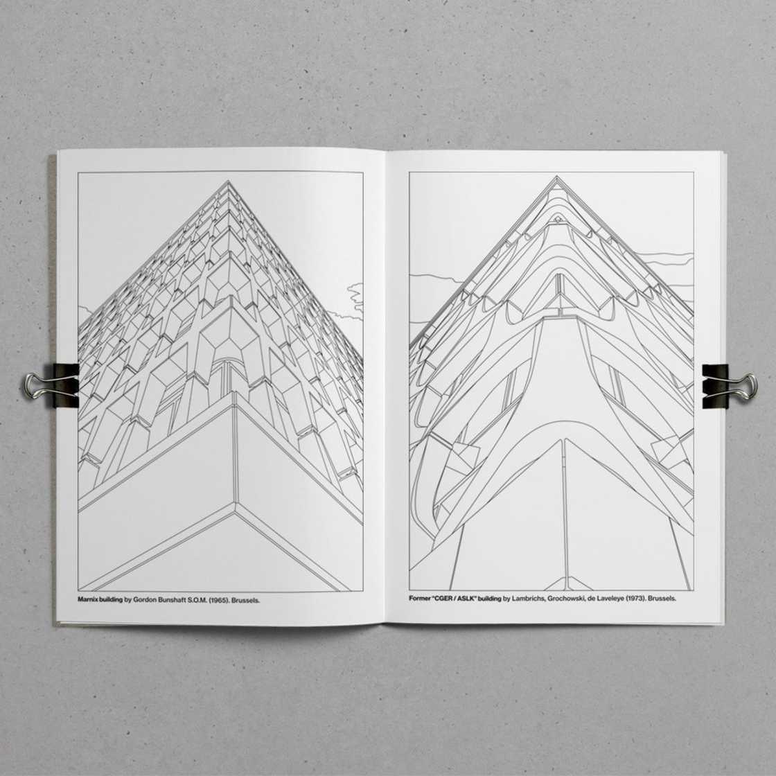 Brutalist Colouring Book - Le livre de coloriage de l'architecture brutaliste