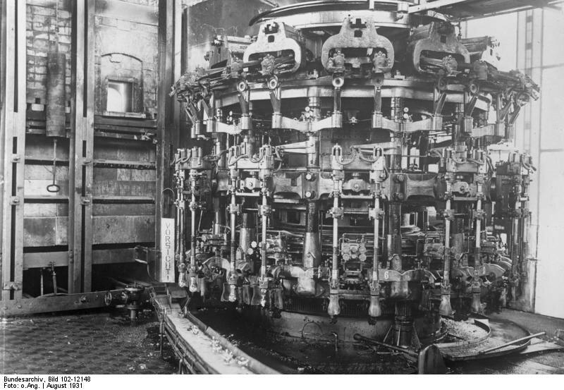 Maschine zur Herstellung von Glьhlampen