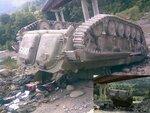 Упавшая с Гуфтинского моста российская БМП-2