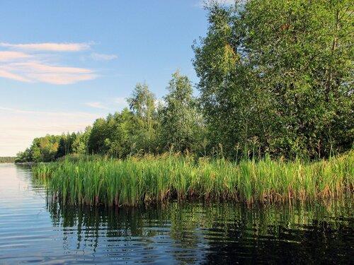 На озере
