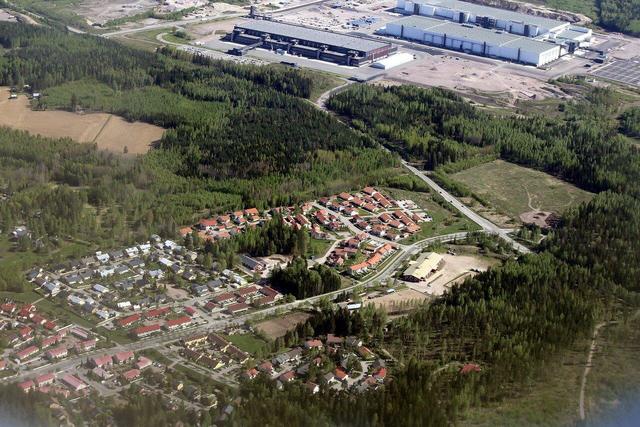 Окрестности Хельсинки c воздуха