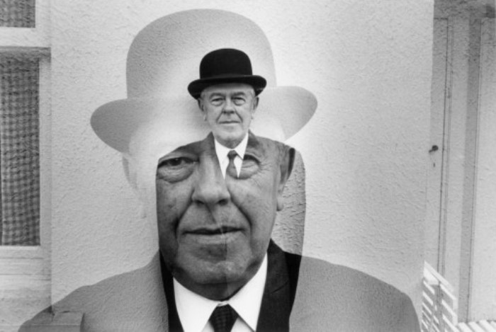 Картину «Сын человеческий» Магритт написал в 1964 г. как автопортрет. Название работы отсылает к биб