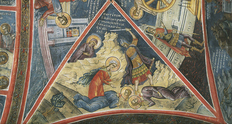 Тзортзи Фука. Фреска Афон Дионисиат 1547 г.