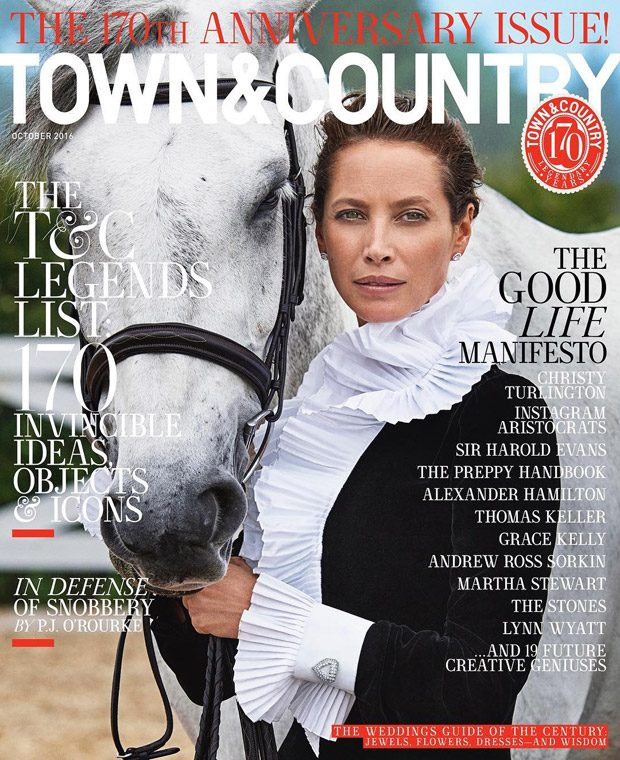 Supermodel Christy Turlington Covers Town & Country 170th Anniversary Issue