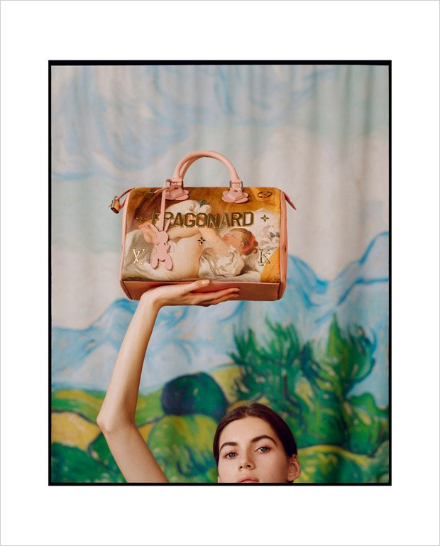 Valery Kaufman Models Louis Vuitton x Jeff Koons The Masters Collection