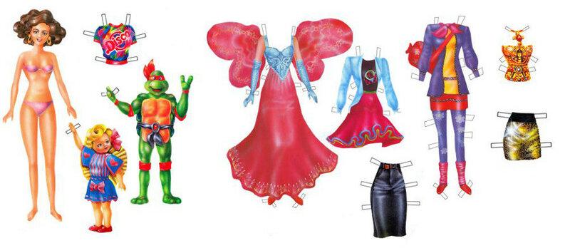 Бумажная кукла Линда