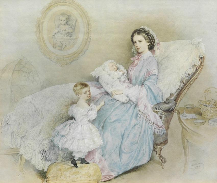 Kaiserin Elisabeth mit ihren Kindern 1858