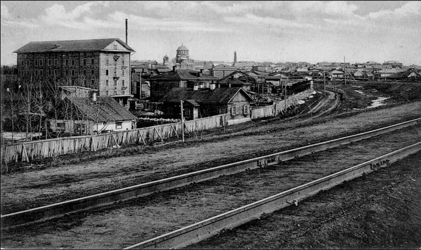 Панорама города от железной дороги