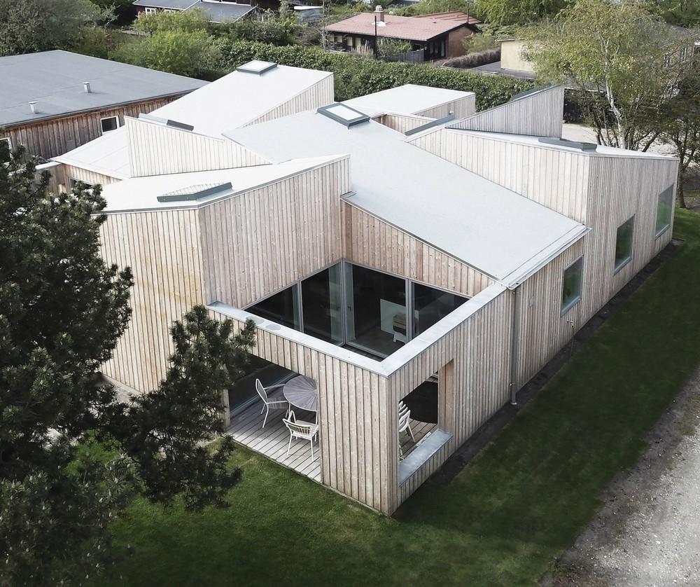 Деревянный дом в пригороде датской столицы